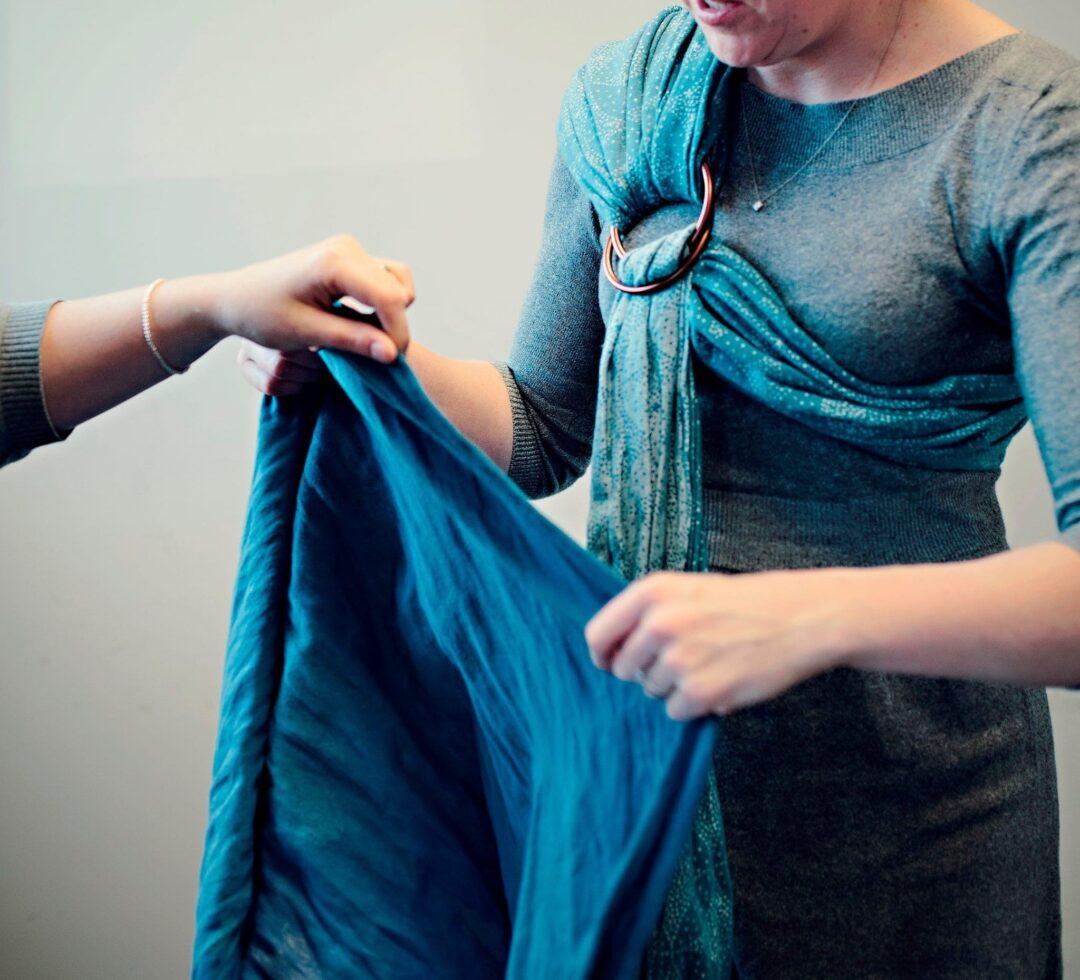 Slingababy showing fabric