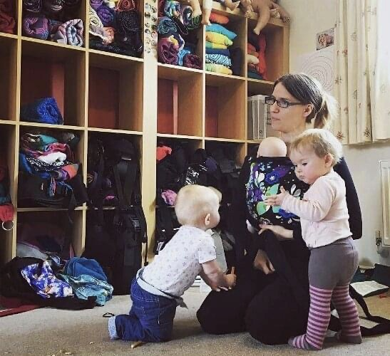 Slingababy teaching with toddlers helping